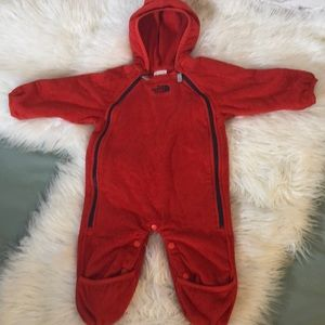 THE NORTH FACE RED BABY/INFANT WINTER ONE PIECE